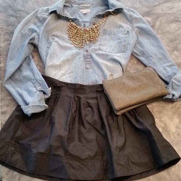 Express Design Studio Dresses & Skirts - Black Mini Pleated Skirt with pockets